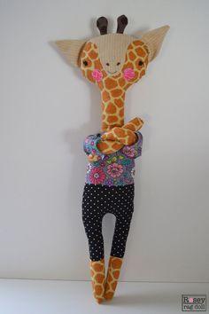 jirafa de trapo muñeca de: Genevieve muñeca de por roseyragdoll