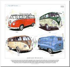 Volkswagen 'THE Split Screen' Fine ART Print Samba Kombi Panel VAN VW Camper   eBay