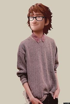 Hiccup from How To Train Your Dragon in today's clothes.