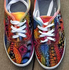 Zentangle sneakers shoes sneakers zentangle by ArtworksEclectic, $32.00