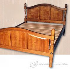 Oak Bed Plans - Furniture Plans and Projects | WoodArchivist.com