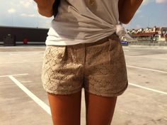 Need some lace shorts once the weather turns around!