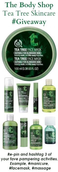 The Body Shop's Tea Tree skincare collection. Thank you to everyone who participated! Body Shop Tea Tree, The Body Shop, Mani Pedi, Pedicure, Opi Gel Polish, Manicure At Home, Wild Hair, Craft Patterns, Design Crafts