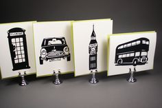 I'd Rather Be In London Note Cards by seahorsebendpress on Etsy,