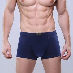 2016 Nuevos Hombres de Los Boxeadores de la Ropa Interior de Algodón Hombre Solid Soft Pantalones Cortos Para Hombre de Modales Bragas Calzoncillos Cueca Boxer Homme Venta Barata