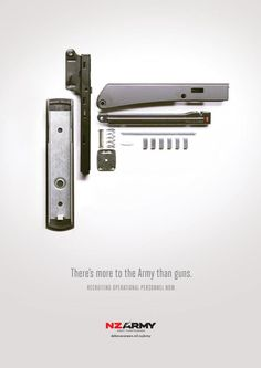 The Print Ad titled 'Disassemble' Operational was done by Saatchi & Saatchi New Zealand advertising agency for product: New Zealand Army (brand: New Zealand Defence Force/ NZDF) in New Zealand. Advertising Campaign, Advertising Design, Army Tags, Saatchi & Saatchi, Australian Defence Force, Ad Of The World, Armada, Copywriter, Print Magazine