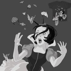 Hitchcock's Snow White! Disney Princess Fairy Tale Birds Animation Cartoons Suspense Horror Snow White and the Seven Dwarves