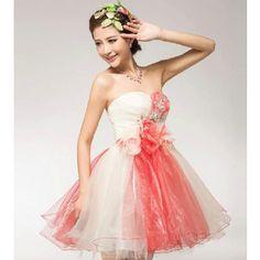 ミニ ドレス カラードレス パーティードレスドレス カラー花嫁ウェディングドレス 披露宴 演奏会 結婚式 二次会ドレス