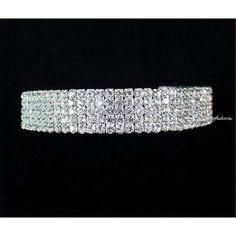 janefashions 5-row Clear Austrian Rhinestone Crystal Choker Necklace... ($19) ❤ liked on Polyvore featuring jewelry, necklaces, silver necklace, clear crystal necklace, silver pendant necklace, silver crystal necklace and rhinestone necklace