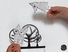 Les Finger Puppets Le Petit Chaperon (Free Printable) - Sanglota.com