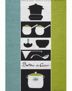 Made in Ireland using 100% linen the Lucienne Day tea towel works as a stand-alone artwork, as well as a household tool. The original Batterie de Cuisine tea towel is currently on display at Pallant House Gallery as part of the exhibition Robin and Lucienn