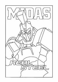 Real Steel Coloring Pages In 2020 Real Steel Coloring Pages Super Coloring Pages