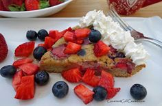 Gourmet Girl Cooks: Low Carb No-Flip Berry Pancakes -- Thick & Fluffy