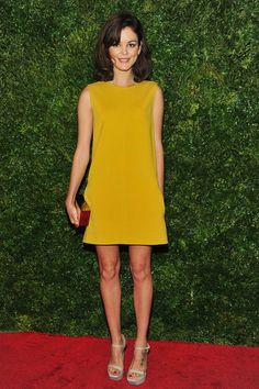 Gamine in Bright Yellow