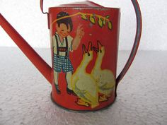 Vintage Tin Lithograph Baby, Duck, Water Sprinkler Toy | eBay