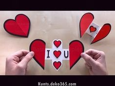 Paper Heart with a Message using Origami paper ❤ DIY Greeting CardsOutstanding DIY tips are available on our internet site. Have a look and you wont be sorry you did.Pop Up Card: Heart ❤ Mother's Day Crafts - Pop Up card Mother's Day Mothers Day Crafts, Valentine Day Crafts, Valentines Origami, Diy Origami, Heart Origami, Useful Origami, Diy Gifts For Boyfriend, Paper Hearts, Diy Paper