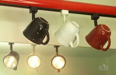 Coffee mug Track Light / Track head Cup by ZALcreations on Etsy, $87.00