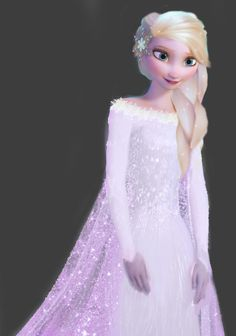 Disney Frozen Elsa in a wedding dress @Elsa Marques Marques Marques  #DisneyFrozen