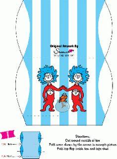 Free Printable Dr Seuss Favor Box 2