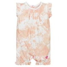 Burt's Bees Baby organic cotton romper is crafted with a fun paint splatter print, adorable flutter sleeves, and smocking details. It's perfect for the summer days ahead and couldn't be easier to take on and off with snaps at the diaper line. Baby Girl Romper, Cute Baby Girl, Baby Girls, Organic Baby, Organic Cotton, Cotton Painting, Burts Bees, Flutter Sleeve, Rompers