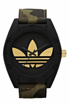Adidas Originals 'Santiago XL' Camo Strap Watch   Nordstrom