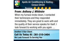 When my furnace broke down, I contacted their technicians and they responded immediately....