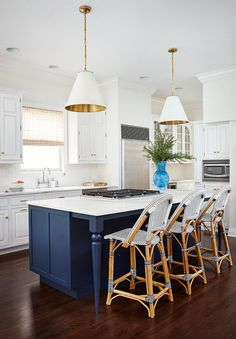 Tips On How You Can Improve Your Kitchen Design With Lights. 199 Single Wall Kitchen Layout Ideas For Home Design Ideas Blue Kitchens, Blue Kitchen Cabinets, Home Remodel Costs, Home, Kitchen Remodel, Kitchen Decor, Home Remodeling, Home Kitchens, Kitchen Design