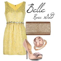 """Disney Princess: Belle, Rose Gold"" by traci-sisson on Polyvore"