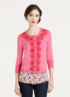 love the glam of this cardi. I want every color.