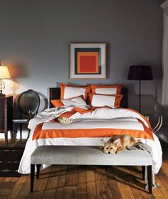 5 bedroom decorating ideas love the orange accent color