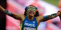 Paetê, foto e polêmica: adereço de atletas cegos é atração na Paraolimpíada - UOL Olimpíadas