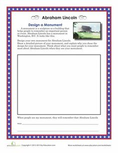 Worksheets: Design Your Own Lincoln Memorial