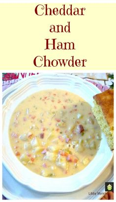 Prize Winning Cheddar & Ham Chowder. A delicious warming soup. Serve with some cornbread warm from the oven! | Lovefoodies.com