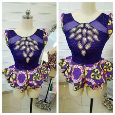 Copy These Stylish And Beautiful Ankara Peplum Tops - Ankara collections brings the latest high street fashion online African Blouses, African Tops, African Dresses For Women, African Print Dresses, African Print Fashion, Africa Fashion, African Fashion Dresses, African Attire, African Wear