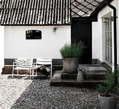 Una casa de vacaciones en Suecia (en blanco y negro) | Etxekodeco