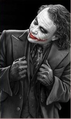 "Heath Ledger as the Joker.a fantastic villain. ""Why so serious?"" Greatest movie portrayal of a Marvel or DC villain ever? Joker Pics, Joker Art, Heros Film, Kings & Queens, Jokers Wild, Heath Ledger Joker, Best Villains, Creation Art, Joker Wallpapers"