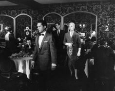 Kim Novak walks through the dining room of Ernie's restaurant in the 1957 movie, Vertigo.  For many years, Ernie's was the best restaurant in San Francisco.  Expensive, but worth it (for very special occasions!)