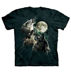 Three Wolf Moon Youth T-shirt is a cool tribute to these majestic animal. At ComputerGear.com.