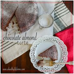 Gluten Free  Chocolate Almond Torte