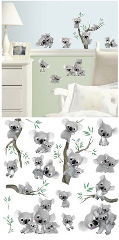 Koalas Peel and Stick  Wall Decals - Wall Sticker Outlet