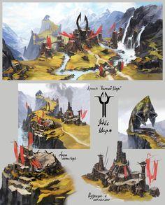 Bull's Czar Keep and the Cliff, Victoriya Anda on ArtStation at http://www.artstation.com/artwork/bull-s-czar-keep-and-the-cliff