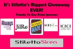 Get in to win in Stiletto's Biggest Giveaway Ever! 7 Prizes are up for grabs including an HD Flip Screen Video Cam, Plus Size Clothing, Gift Baskets, & More!