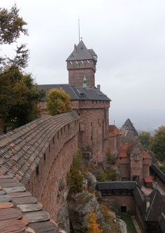 Travel Inspiration for France - A Day Trip from Strasbourg along the Alsace Wine Route including visiting the famous castle, Chateau du Haut Koenigsbourg