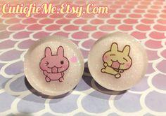 Double Cookie Stud Earrings by CutiefieMe on Etsy