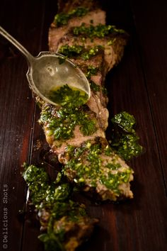 Chimichurri Sauce. Beautiful sauce over grilled meat, fish and veggies