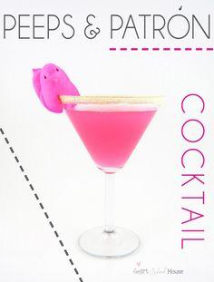Peeps & Patron Cocktail FUN!  #peeps #easter  @smartschoolhouse