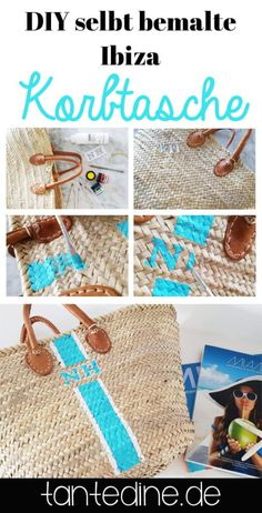 Punktlich zum Frühlingsanfang habe ich ein kleines, feines DIY für euch - eine Ibiza Korbtasche mit Initialien. Nicht nur am Strand ist die Tasche...