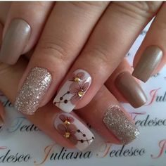 2019 Latest Nail Art Designs You Should Try - Sparkly Nails, Pink Nails, My Nails, Nail Art Designs Videos, Fall Nail Art Designs, Acrylic Nail Shapes, Acrylic Nails, Cute Nails, Pretty Nails