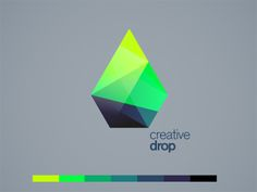 drop dribbble 20 Polygon Style Logos