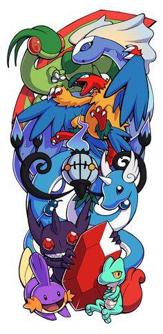 Pokemon Sleeve 7 by H0lyhandgrenade.deviantart.com on @DeviantArt